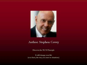 Le principe 90/10 de Stephen Covey